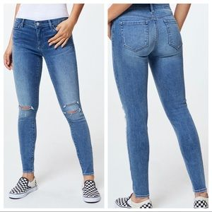 Pacsun Perfect Fit Jegging Distressed Rips Blue